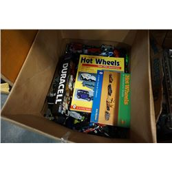 BOX OF HOTWHEELS AND HOTWHEELS REFERENCE MANUALS