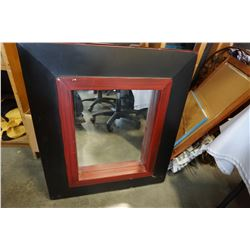 RED AND BLACK DECORATIVE MIRROR