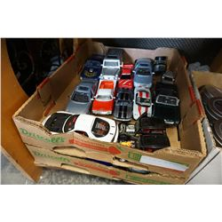 TRAY OF DIE CAST AND RC CARS