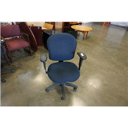 BLUE GAS LIFT OFFICE CHAIR