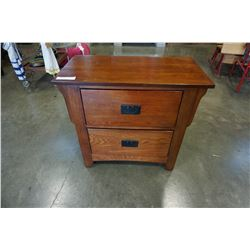 2 DRAWER REAL WOOD NIGHTSTANDS