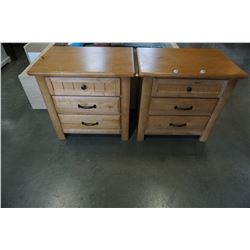 PAIR OF MATCHING 3 DRAWER NIGHT STANDS