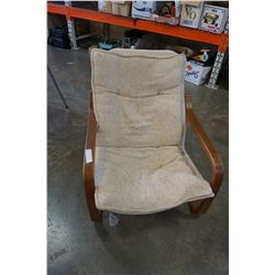 MID CENTURY METAL AND BENTWOOD CHAIR