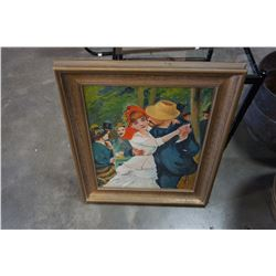 VINTAGE OIL PAINTING IN GOLD FRAME FROM WOODWARDS