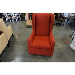 RED STYLUS ACCENT CHAIR