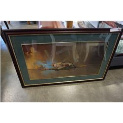 FRAMED BARRY CLARK SPIT FIRE PICTURE