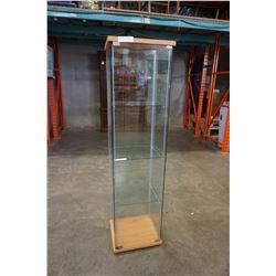 GLASS IKEA DISPLAY CABINET