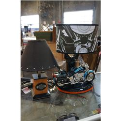2 HARLEY TABLE LAMPS