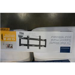NEW OVERSTOCK INSIGNIA 13 TO 32 INCH FIXED TV WALL MOUNT, 40LB CAPACITY