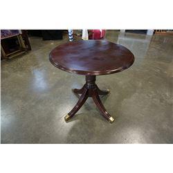 ROUND MAHOGANY PARLOUR TABLE