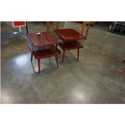 PAIR OF MCM 2-TIER SIDE TABLES