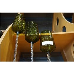 3 STEP TWISTED GLASS CANDLE HOLDERS