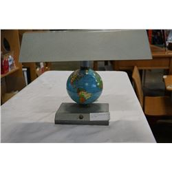 ART DECO SPINNING METAL GLOBE DESK LAMP