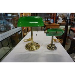 2 BANKERS LAMPS
