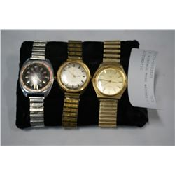 3 VINTAGE MENS WATCHES - 1 AUTOMATIC