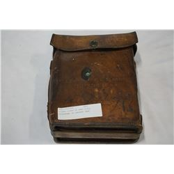 SIGNAL CORPS US ARMY FIELD TELEPHONE IN LEATHER CASE