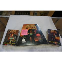 3 SEALED TOMB RAIDER COLLECTABLE CARD GAMES