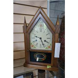 SETH THOMAS CATHEDRAL MANTLE CLOCK W/ GERMAN MOVEMENT