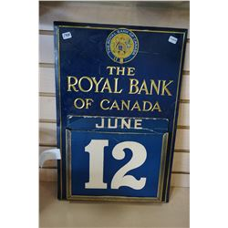 1950S ROYAL BANK OF CANADA CALANDER - COMPLETE