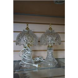 2 CRYSTAL TABLE LAMPS