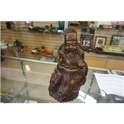 WOOD CARVED EASTERN FIGURE