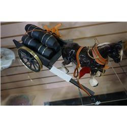 HORSE FIGURE W/ WAGON
