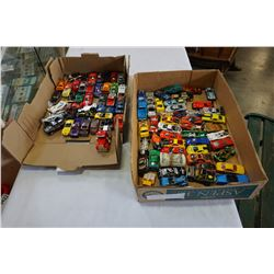 2 TRAYS OF TOY CARS
