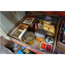 LOT OF VINTAGE TABACCO TINS AND BOXES