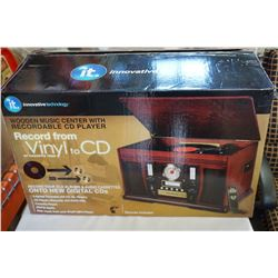 INNOVATIVE TECHNOLOGY AS NEW IN BOX VINYL OR CASSETTE TO CD RECORDER