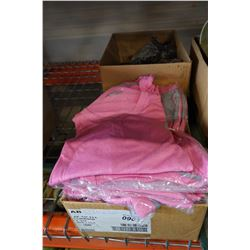 BOX OF 24 NEW LADIES SPORTS SHIRTS AND 12 MENS SPORTS SHIRTS