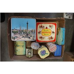 TRAY OF VINTAGE TINS