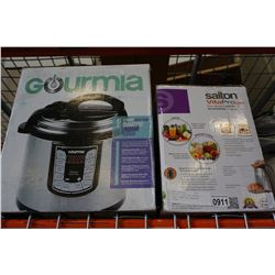 SALTON JUICER AND GOURMIA 12 QUART SMART POT PRESSURE COOKER