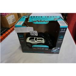 SHARPER IMAGE FLIP STUNT RALLY BATTERY OPERATED 2 IN 1 CAR