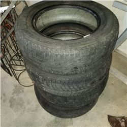 SET OF 4 MICHELIN 195/65 R15 TIRES