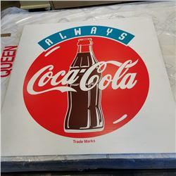 COCA COLA SIGN, 4FT X 4FT SIGN