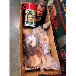 BOX OF COLLECTIBLE DOLLS ETC