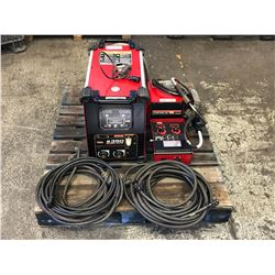 LINCOLN POWERWAVE S350 WELDER W/ POWER FEED 10M WIRE FEEDER
