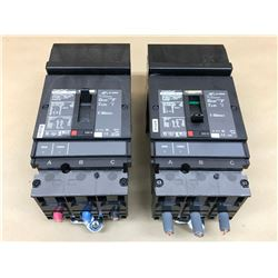 (2) SQUARE D POWER PACT HJ 150 CIRCUIT BREAKER
