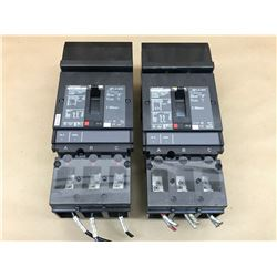 (2) SQUARE D POWER PACT HJ 060 CIRCUIT BREAKER