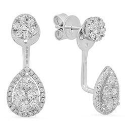 14k Gold 1.19CTW Diamond Earrings, (SI1-SI2)