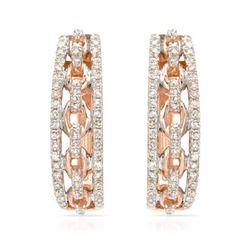 14k Rose Gold 0.32CTW Diamond Earrings, (SI1/G)