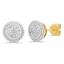 14k Gold 0.3CTW Diamond Earrings, (I1-I2/G-H)