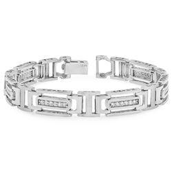 14k Gold 1CTW Diamond Bracelet, (SI1/G-H)