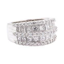 2.42 ctw Diamond Ring - 14KT White Gold