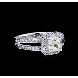 1.99 ctw Fancy Light Yellow Diamond Ring - 14KT White Gold