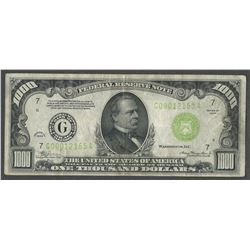 1934 $1000 Federal Reserve Note Chicago