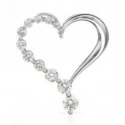 14k White Gold 0.24CTW Diamond Necklace, (SI3/G-H)