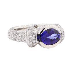 2.73 ctw Sapphire And Diamond Ring - Platinum