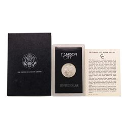 1883-CC $1 Morgan Silver Dollar Coin GSA w/ Box & COA