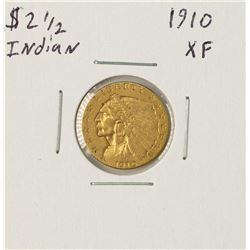 1910 $2 1/2 Indian Head Quarter Eagle Gold Coin